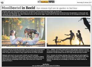 Column over fotoshoots in de krant door FischerFotografie