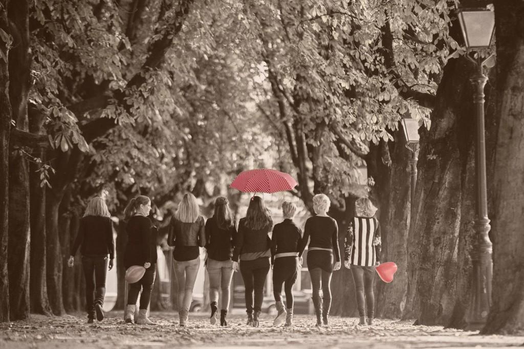 Groepsfoto gemaakt tijdens een vriendinnen shoot.