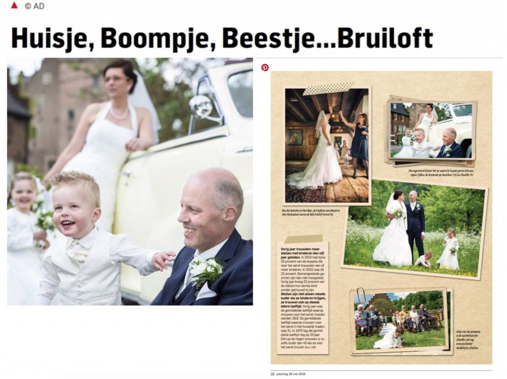 Artikel over fotograaf Marcel Fischer in de krant het Algemeen Dagblad