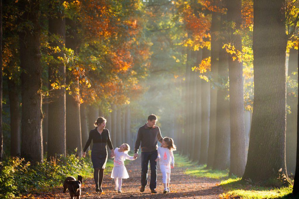 Fotoshoot gezin met kinderen.