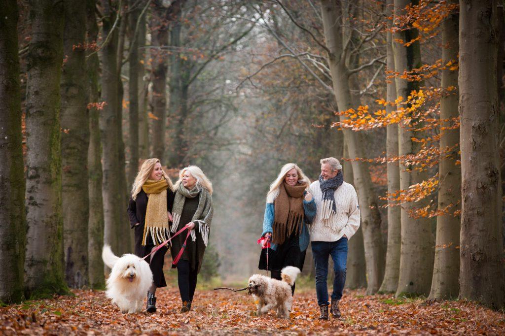Fotoshoot gezin in de winter.