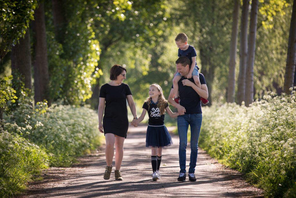 Spontane familie fotoshoot.