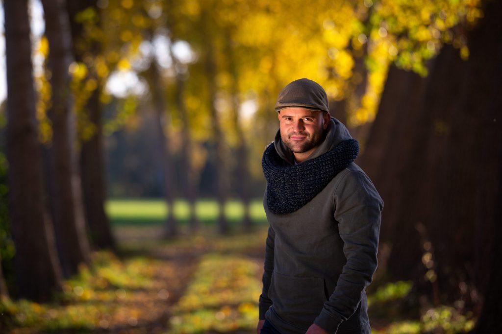 Typische herfst fotoshoot.