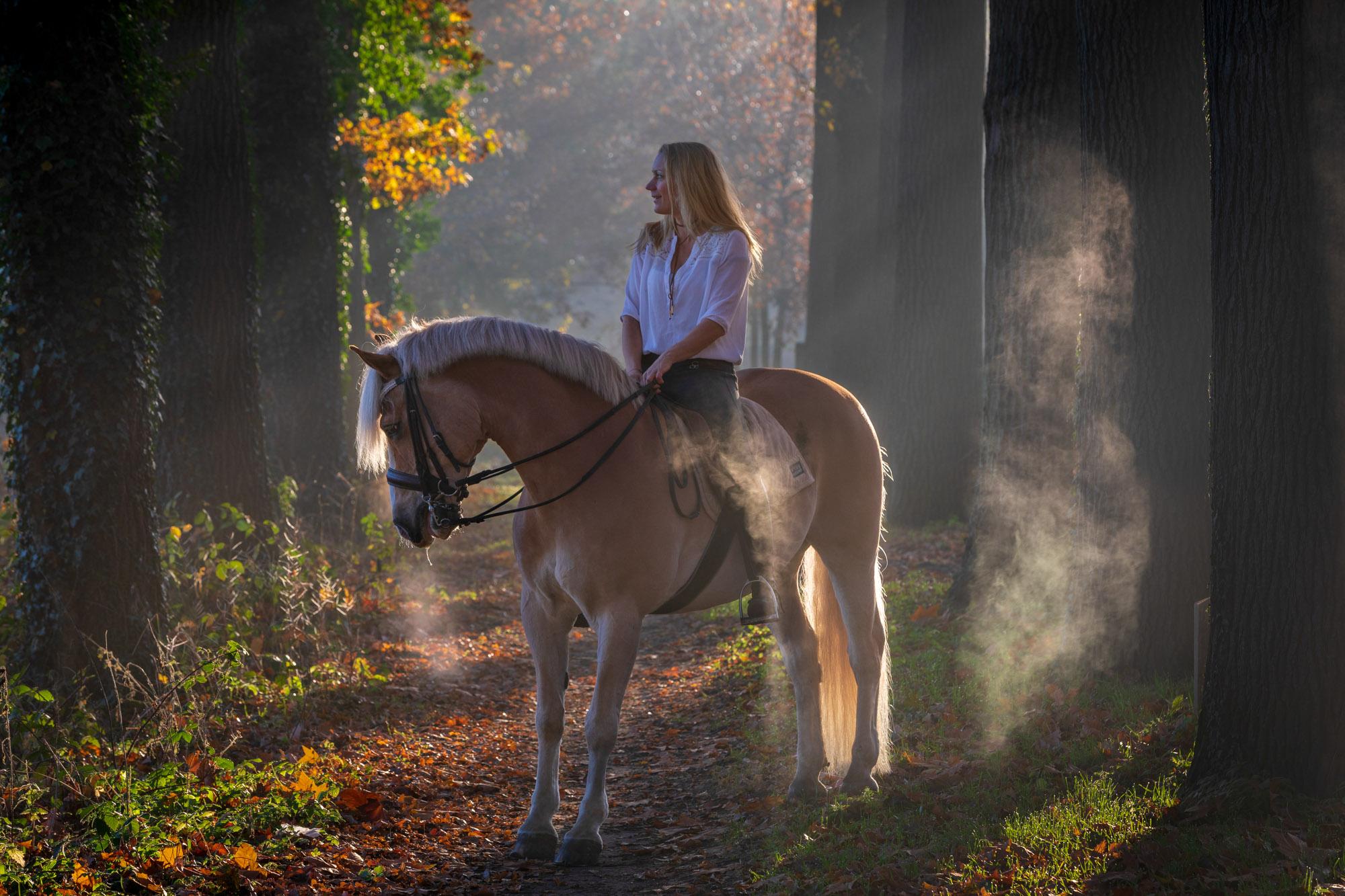 Vrouw met paard.