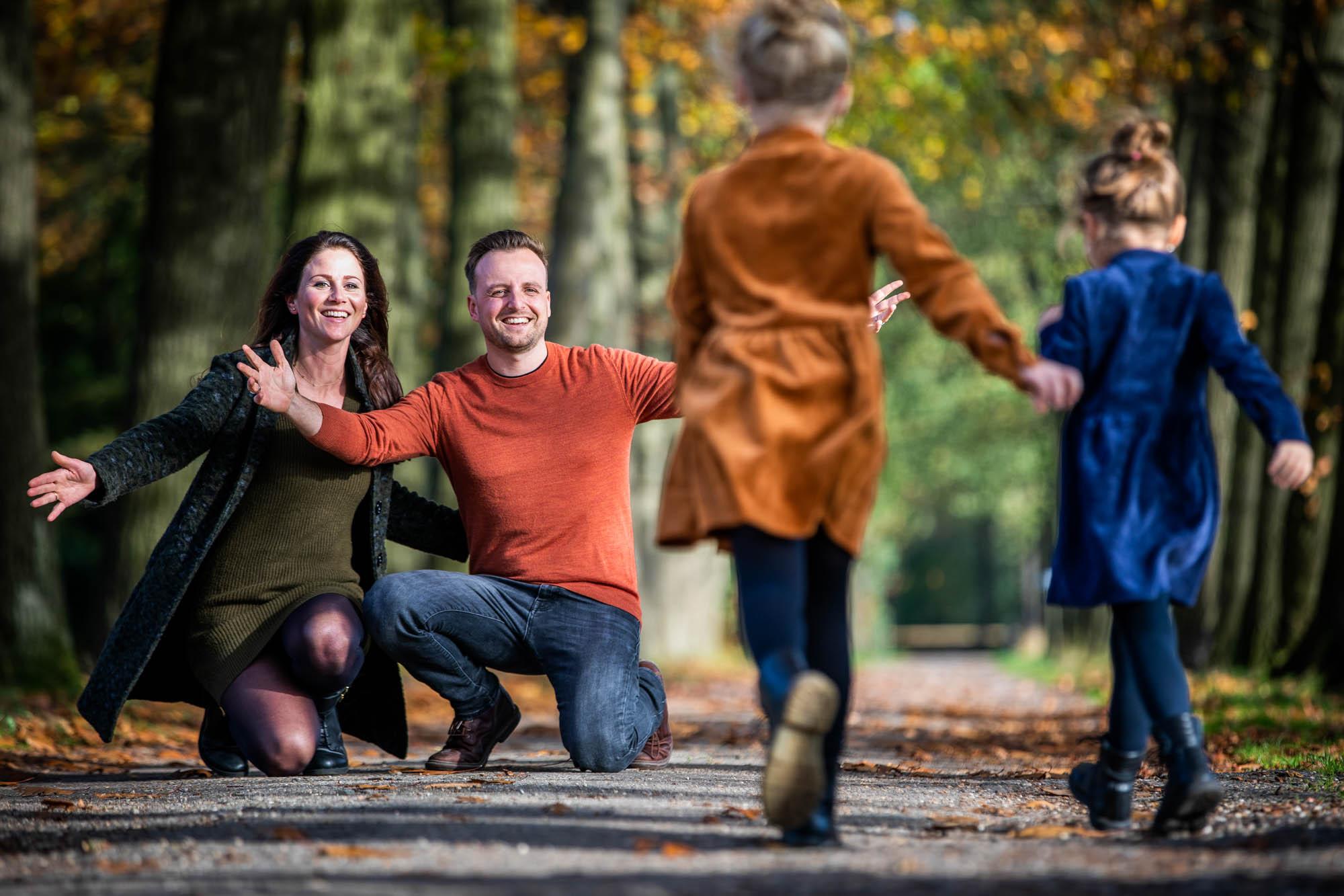 Spontane familie fotoreportage in de herfst.